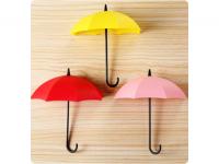 Paraplu Wandhaak/Organizer, Zelfklevende haak/bak in paraplu