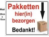 Pakket instructiebord A5 Alu