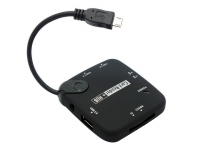 OTG USB Hub en Card Reader geschikt voor General mobile Android one gm5