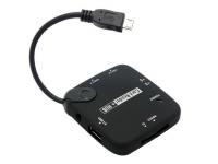 OTG USB Hub en Card Reader geschikt voor Barnes noble Nook simple touch