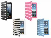 Premium custom-made Tablet Case with polka dot print design for the Ipad 3
