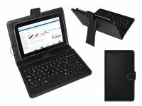 Zwarte Keyboard Case voor Lenco Cooltab 70 Tablet