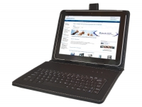 Zwarte Keyboard Case voor Lenco Tab 1020 Tablet