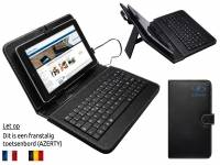 AZERTY Keyboard Case, kleur zwart voor Dell Venue 7 hd 2014