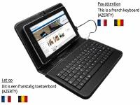 AZERTY Keyboard Case, kleur zwart voor Dell Venue 8 hd 2014