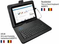 AZERTY Keyboard Case, kleur zwart voor Acer Iconia tab a500 a501