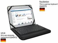 Duitse QWERTZ Bluetooth Keyboard Case voor Salora Tab1011